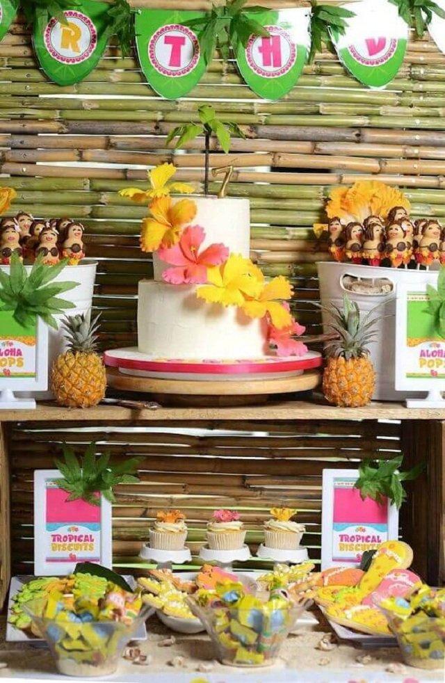 cakes hawaiian party ideas 2