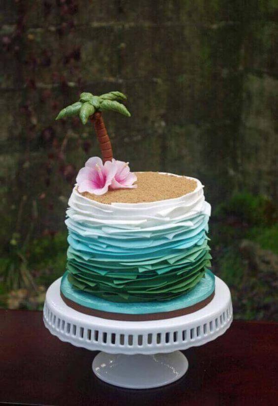 cakes hawaiian party ideas 4