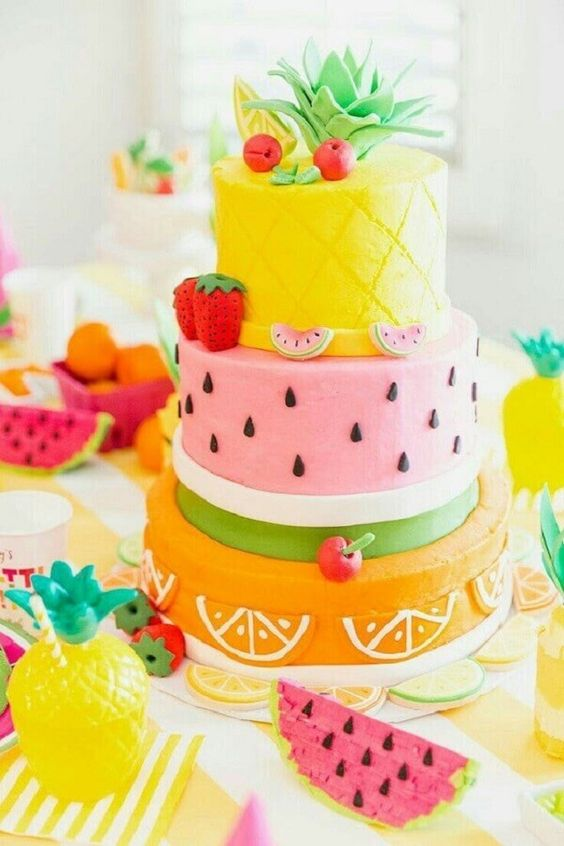 cakes hawaiian party ideas 6