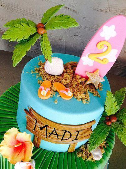 cakes hawaiian party ideas 7