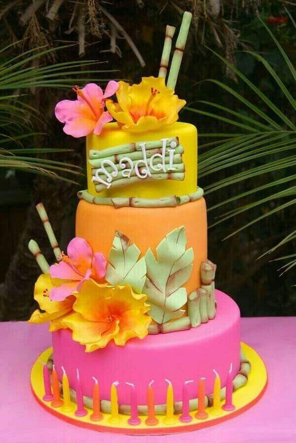 cakes hawaiian party ideas 8
