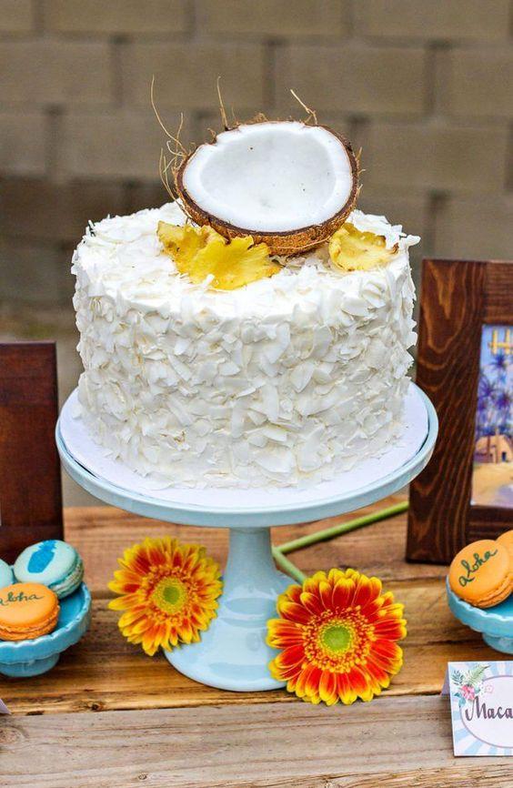 cakes hawaiian party ideas