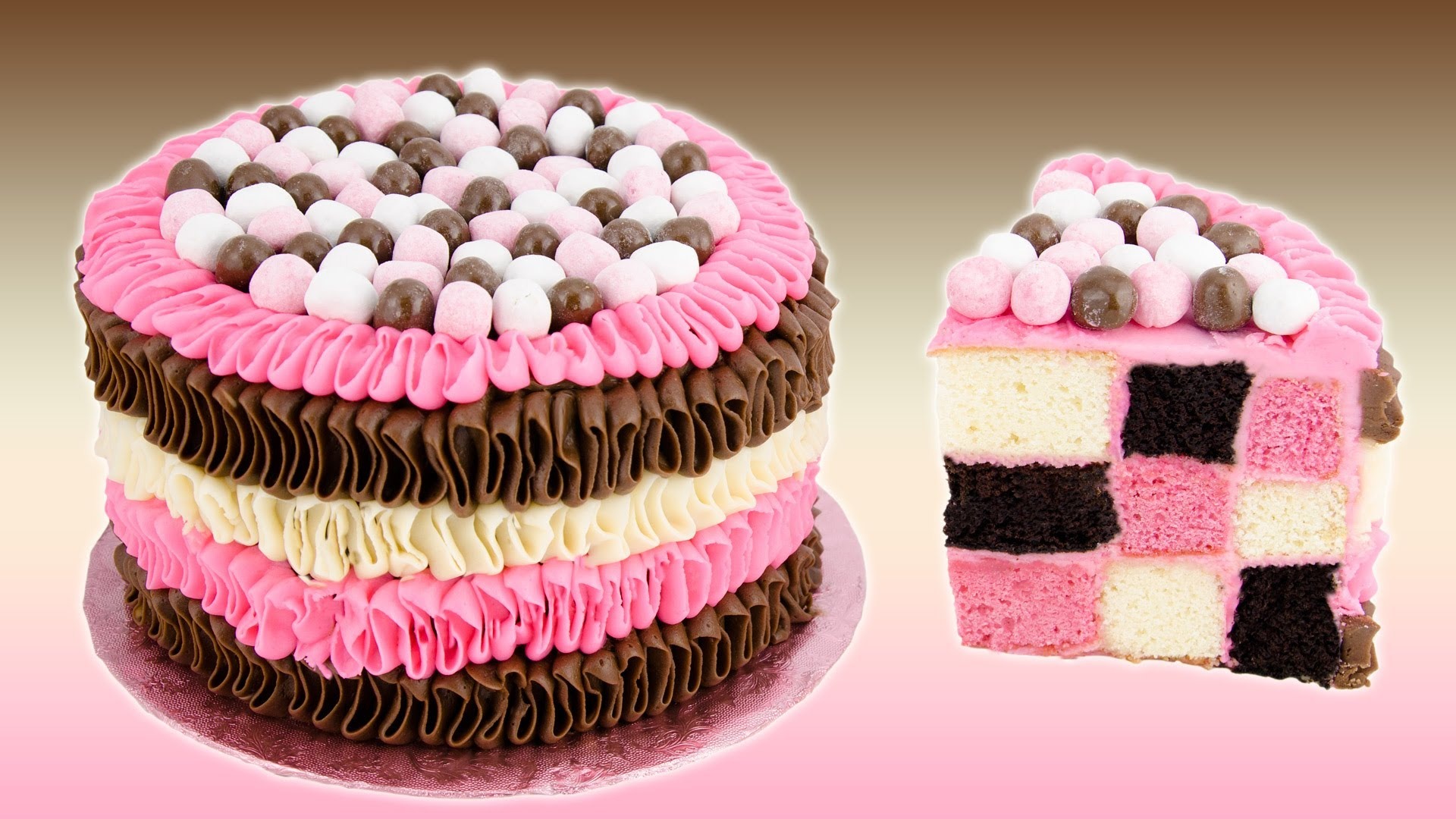 Checkerboard Neapolitan Cake Recipe