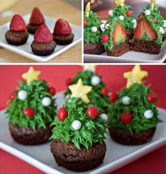 chocolate christmas brownies 1