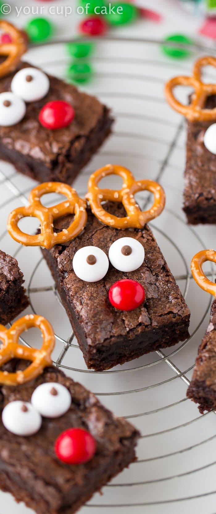 chocolate christmas brownies 2