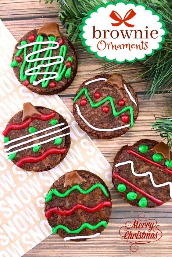 chocolate christmas brownies 9