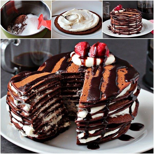 chocolate pancake cake
