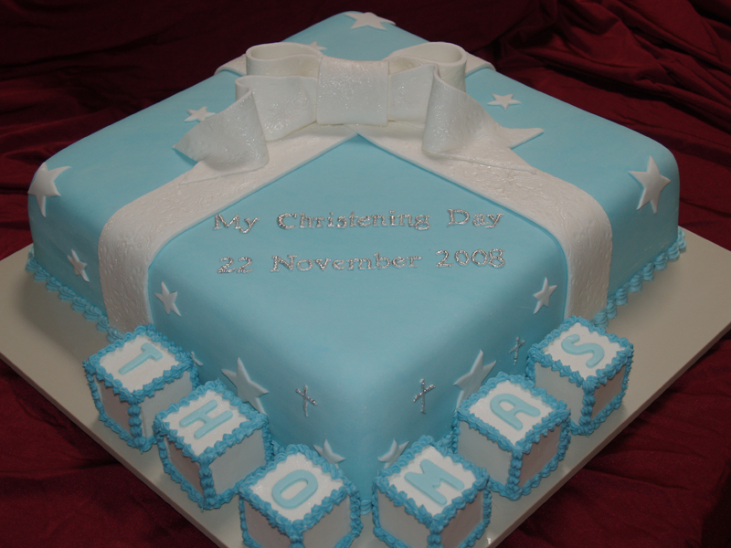 christening cakes for boys ribbons cake