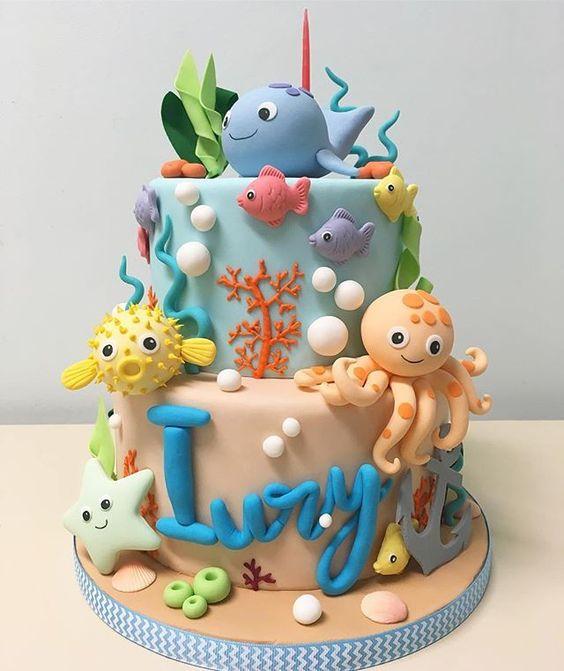 decorated birthday cakes 1