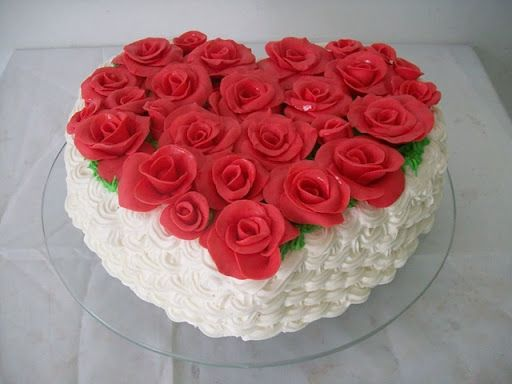 decorated cakes for valentines day