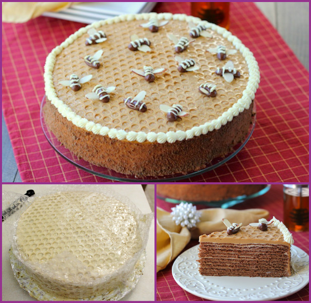 decorating the cake with bubble wrap 4