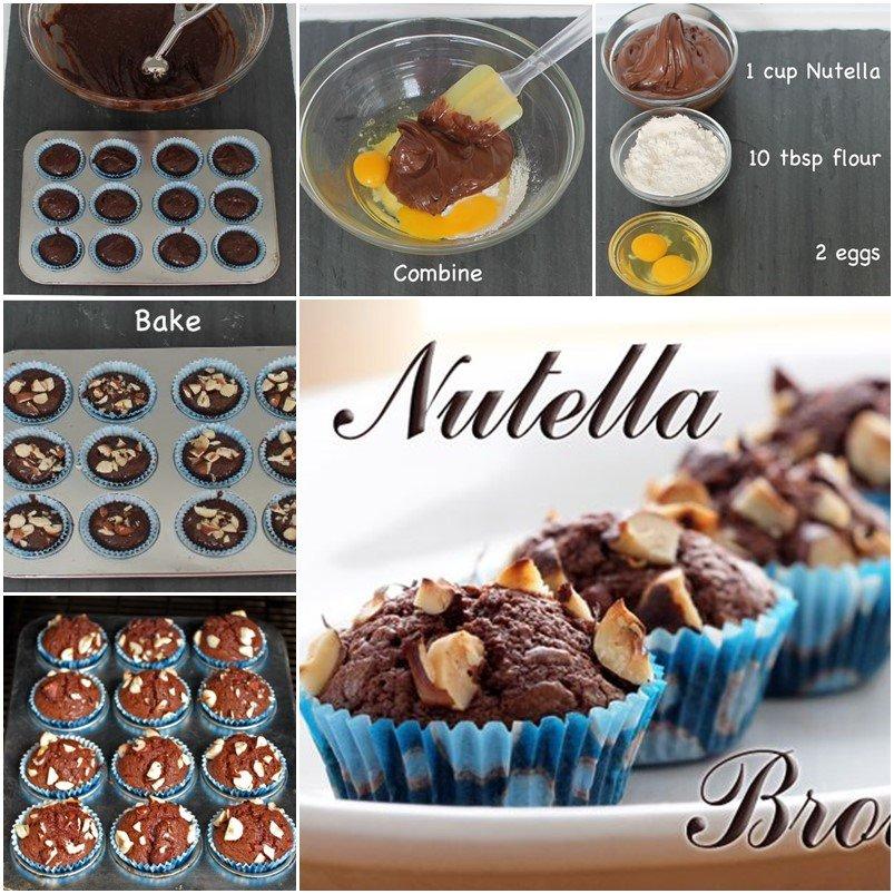 diy simple 3 ingredient nutella brownies