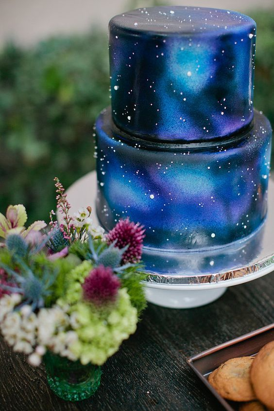 galaxy cake how to make 1