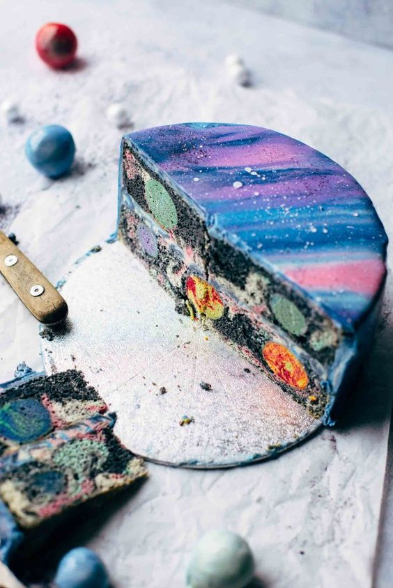 galaxy cake how to make 5