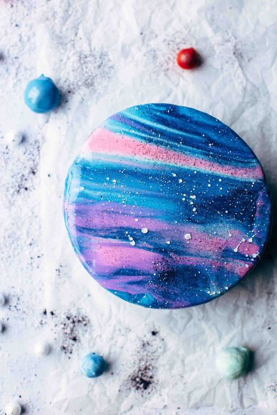 galaxy cake how to make 6