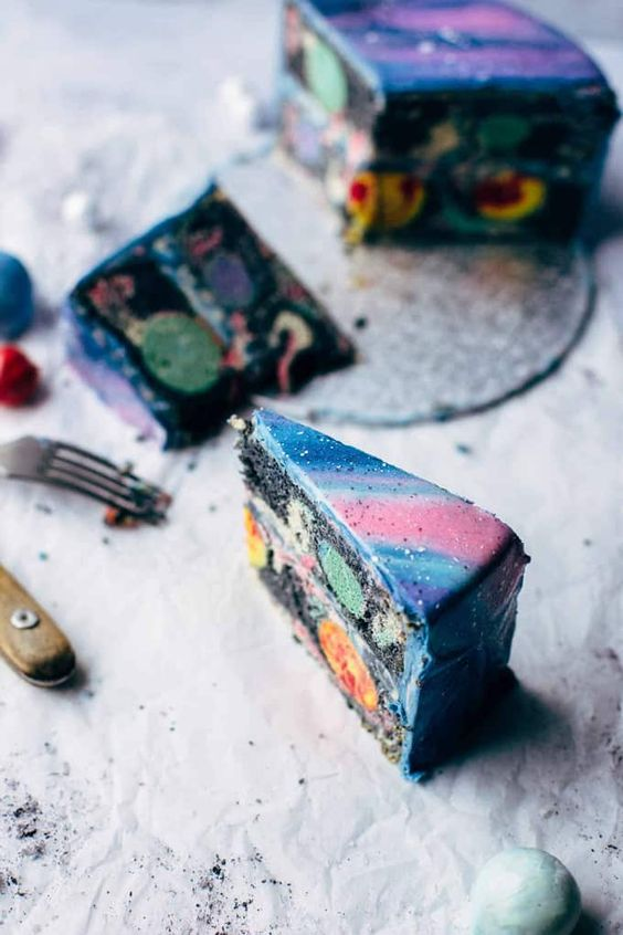 galaxy cake how to make 7