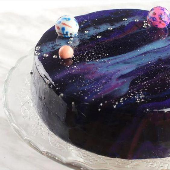 galaxy cake how to make 9