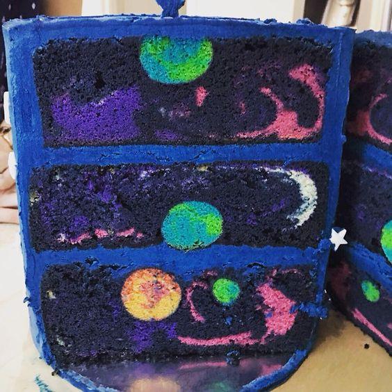 galaxy cake how to make