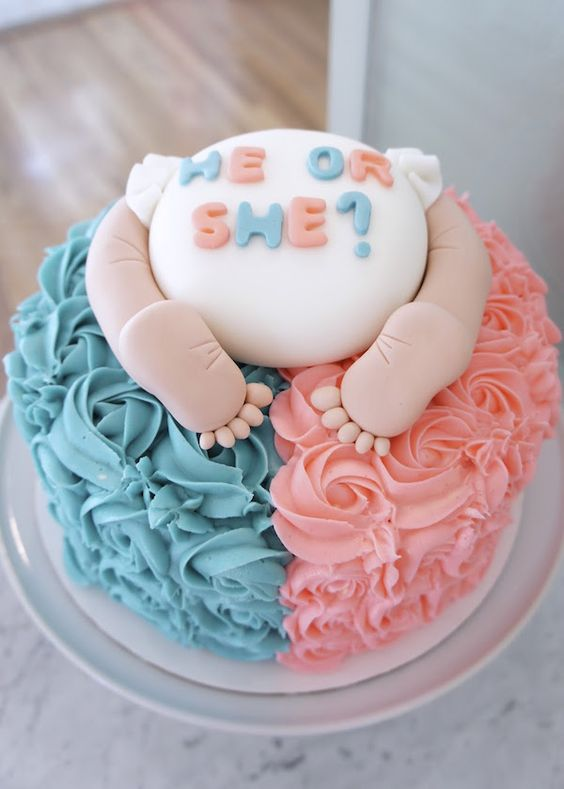 gender reveal baby cake 12