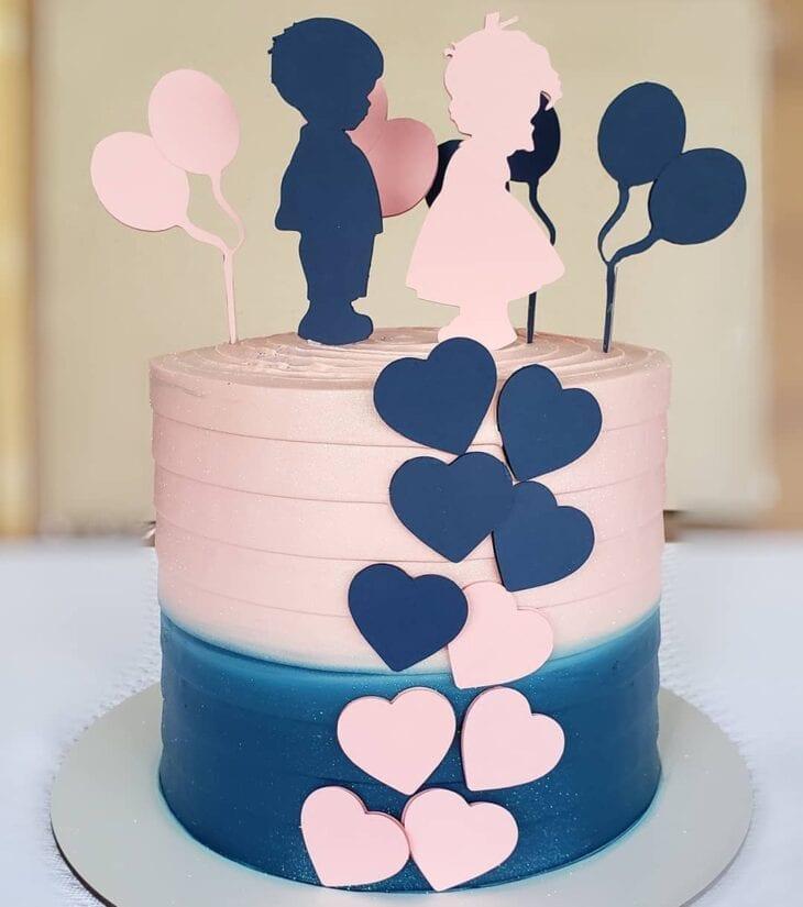 gender reveal baby cake 13