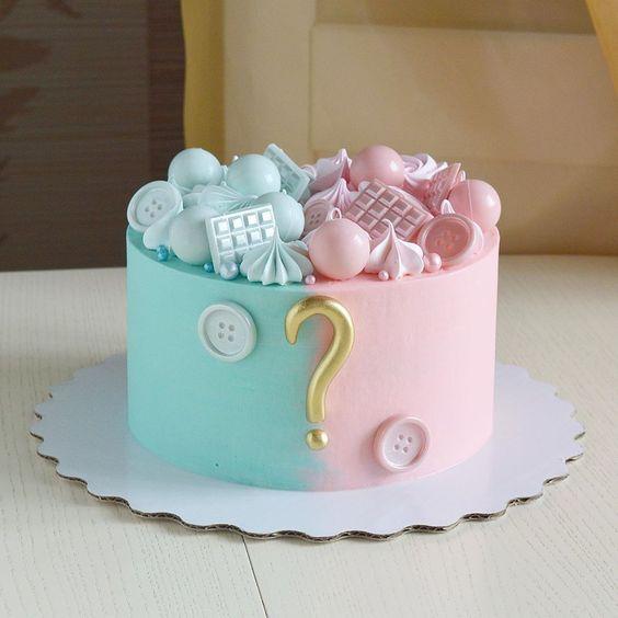 gender reveal baby cake 2