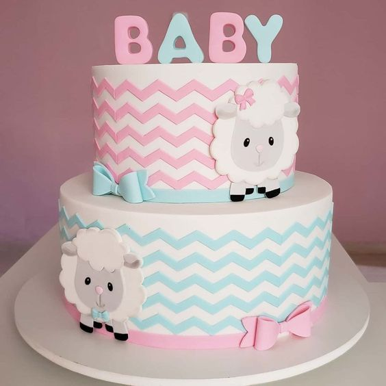 gender reveal baby cake 3