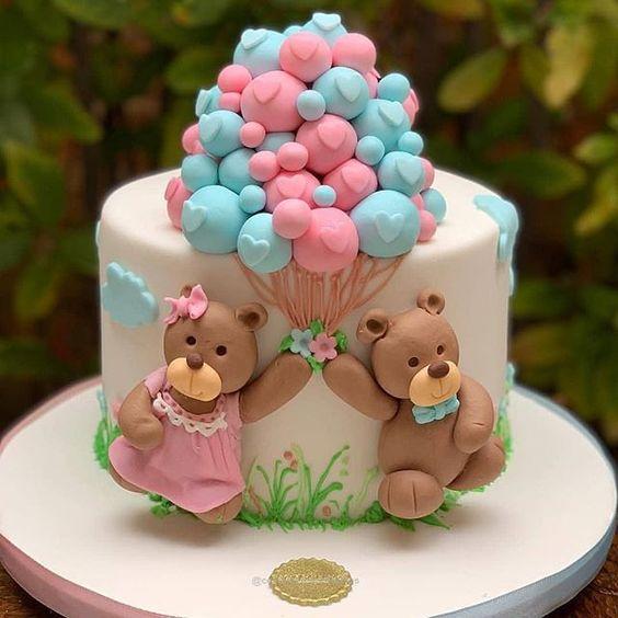 gender reveal baby cake 6