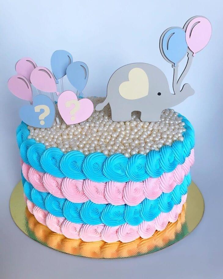 gender reveal baby cake 9