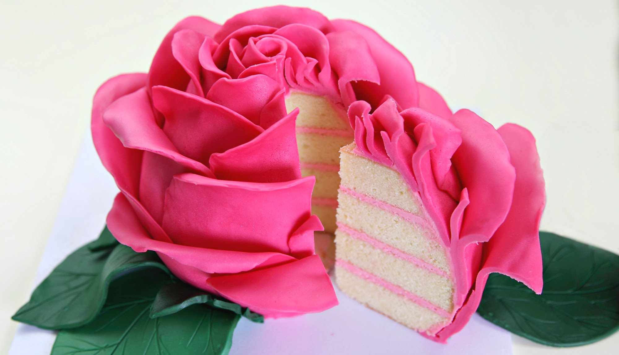 Ginormous Sculpted Rose Cake