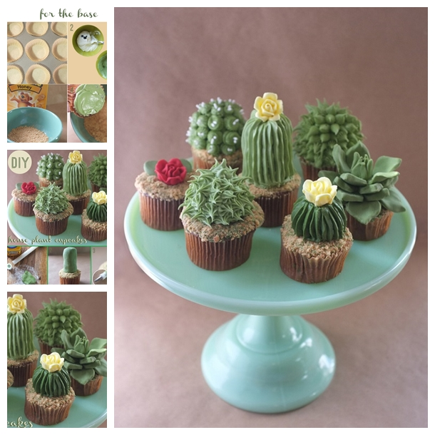 house plant cupcakes F