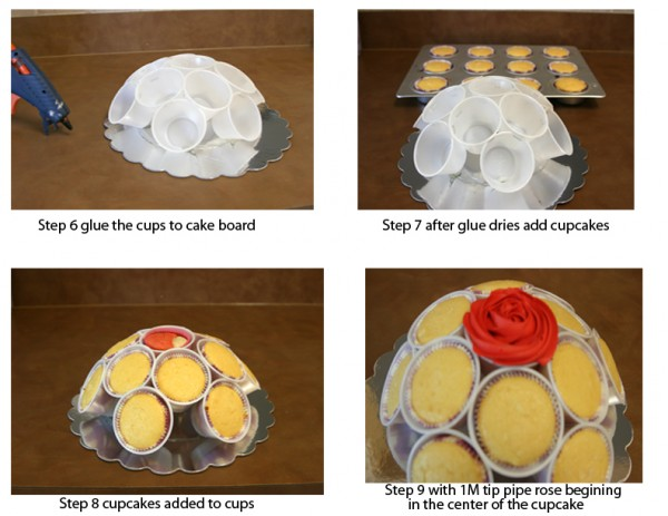 how to make a rose cupcake bouquet 3