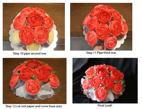 how to make a rose cupcake bouquet 4