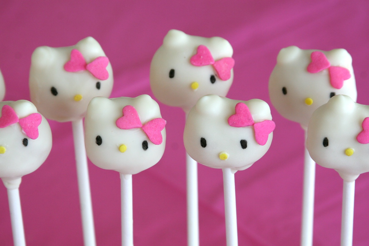 how to make cake pops hello kitty