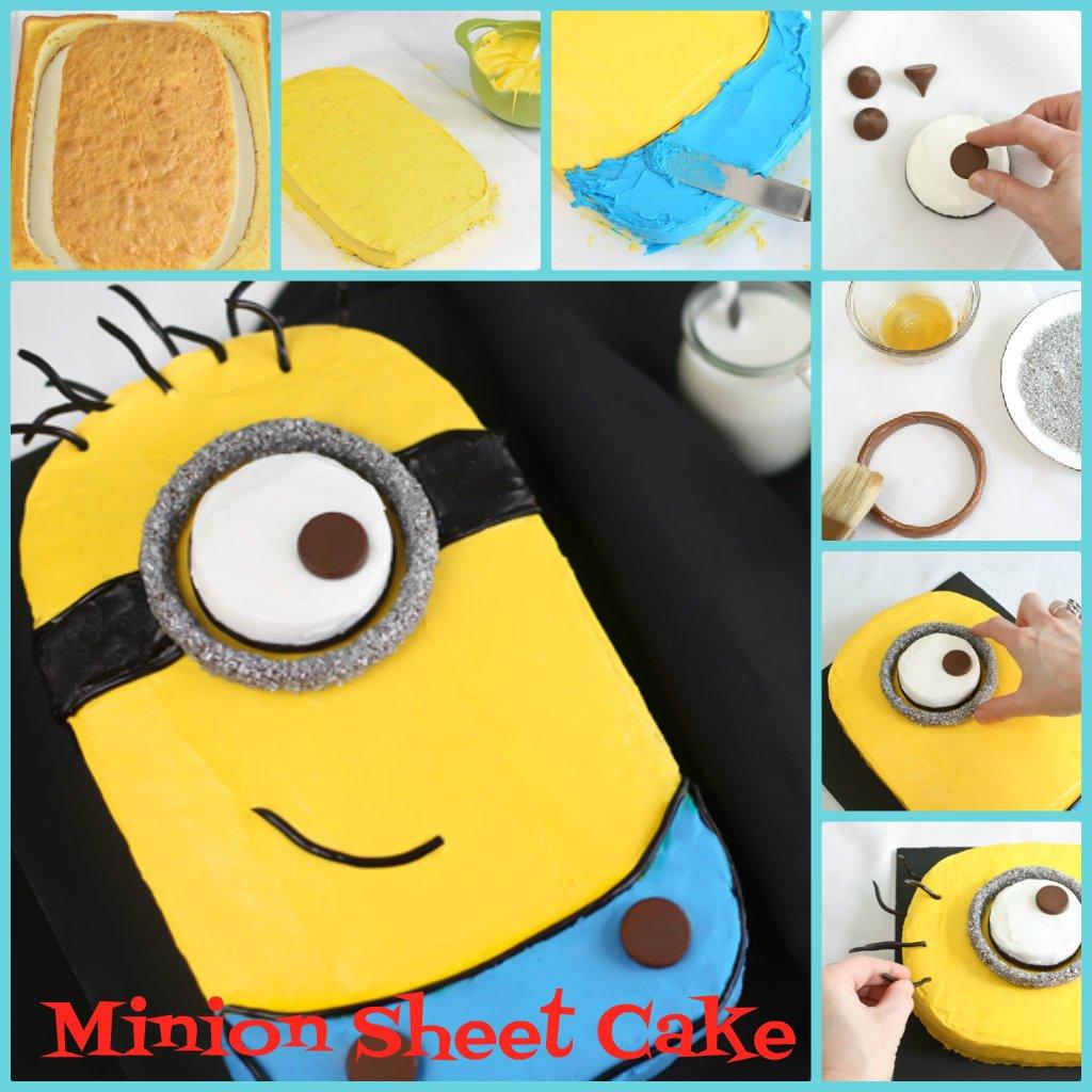 Diy Despicable Me Minion Sheet Cake