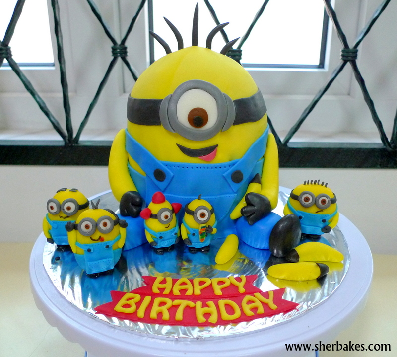 Remarkable Minions Cakes Birthday Cards Printable Riciscafe Filternl