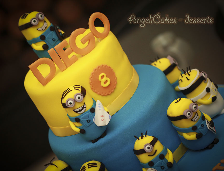 minions cake decorated