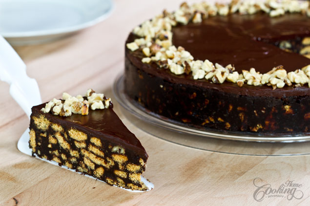 Chocolate Biscuit Cake Made With Cocoa Powder