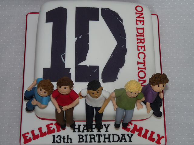 one direction decorated cake