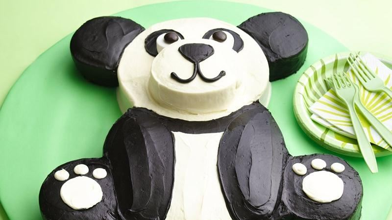 Astounding Diy Panda Bear Birthday Cake Free Template Funny Birthday Cards Online Elaedamsfinfo