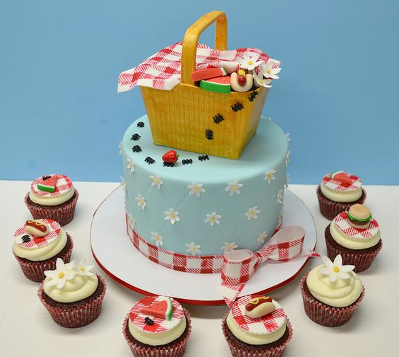 picnic party cakes ideas 3
