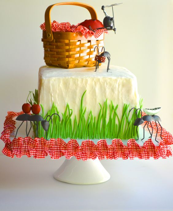 picnic party cakes ideas 4