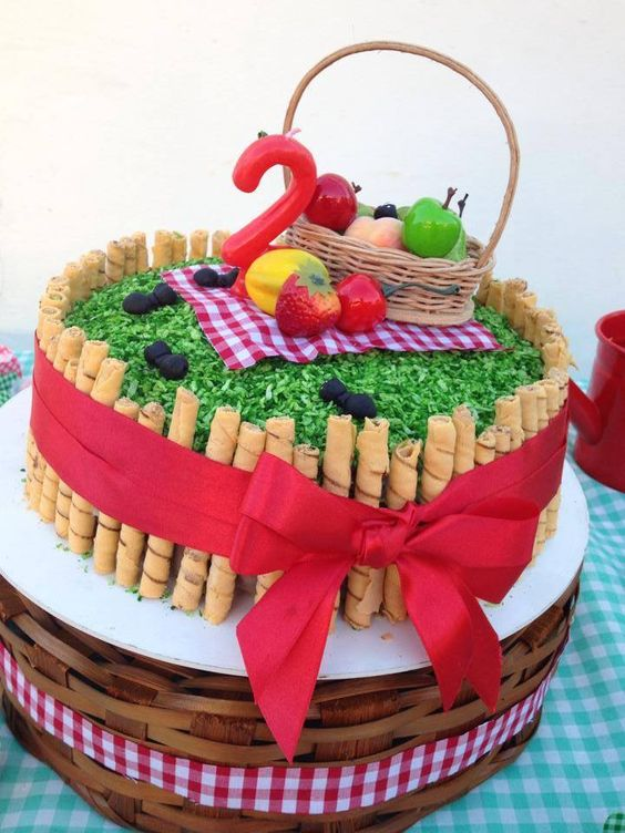 picnic party cakes ideas 5
