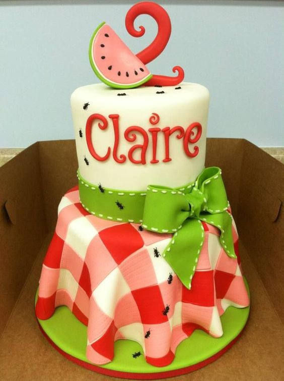 picnic party cakes ideas 8