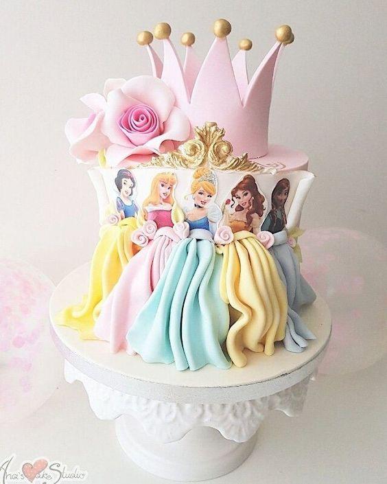 princess birthday cake 10