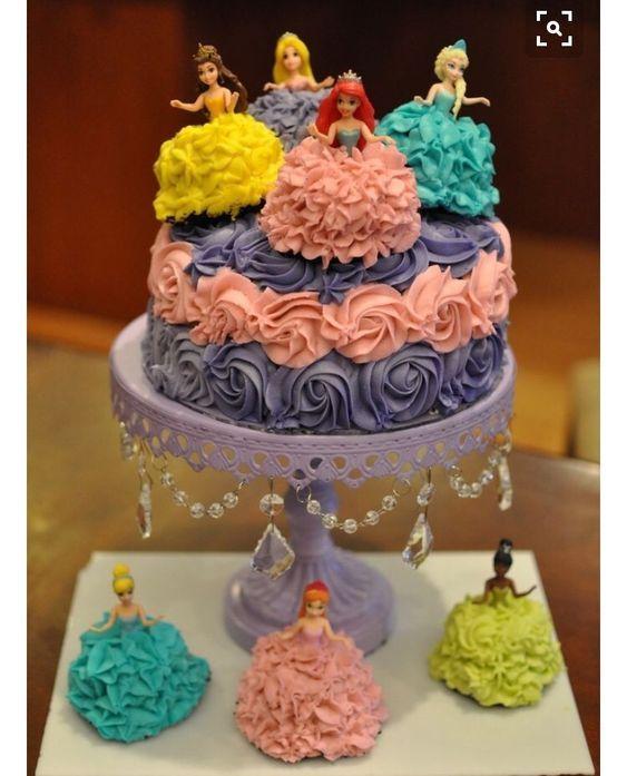 princess birthday cake 6
