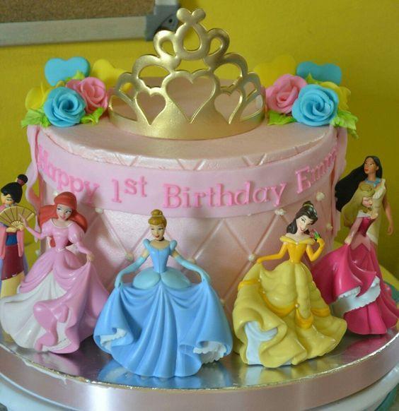 princess birthday cake 8