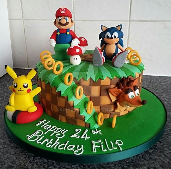sonic decorated cakes 2