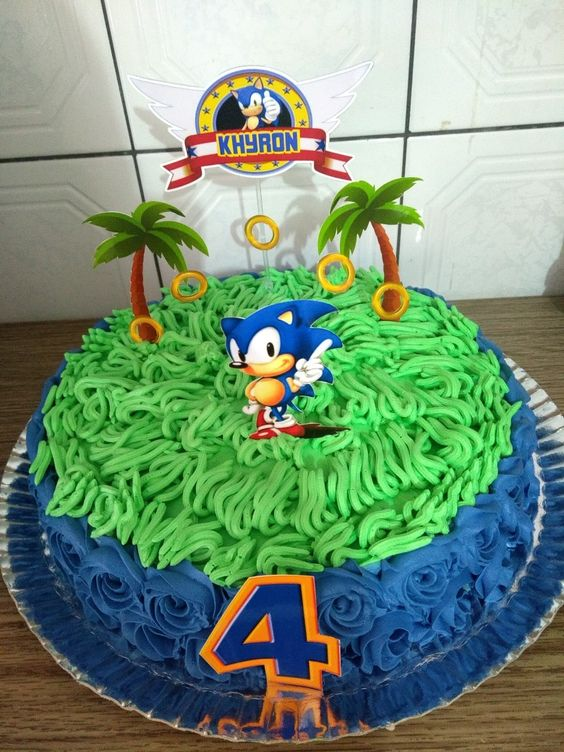 sonic decorated cakes 8