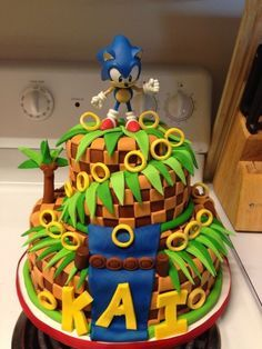 sonic decorated cakes