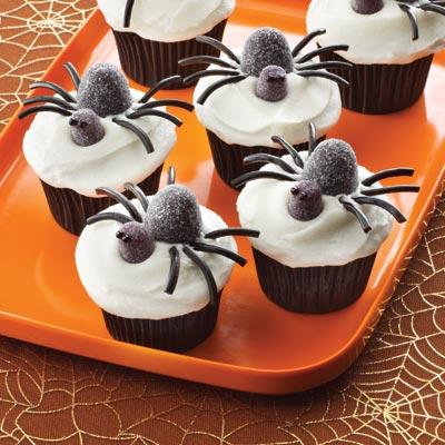 spider gumdrop cupcake